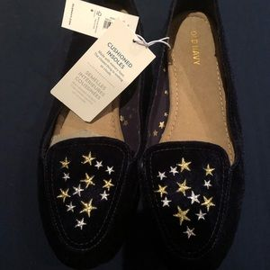 Blue Loafers with Gold ⭐️Stars